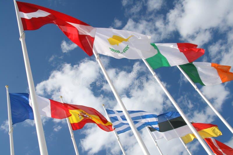 flags världen arkivfoton