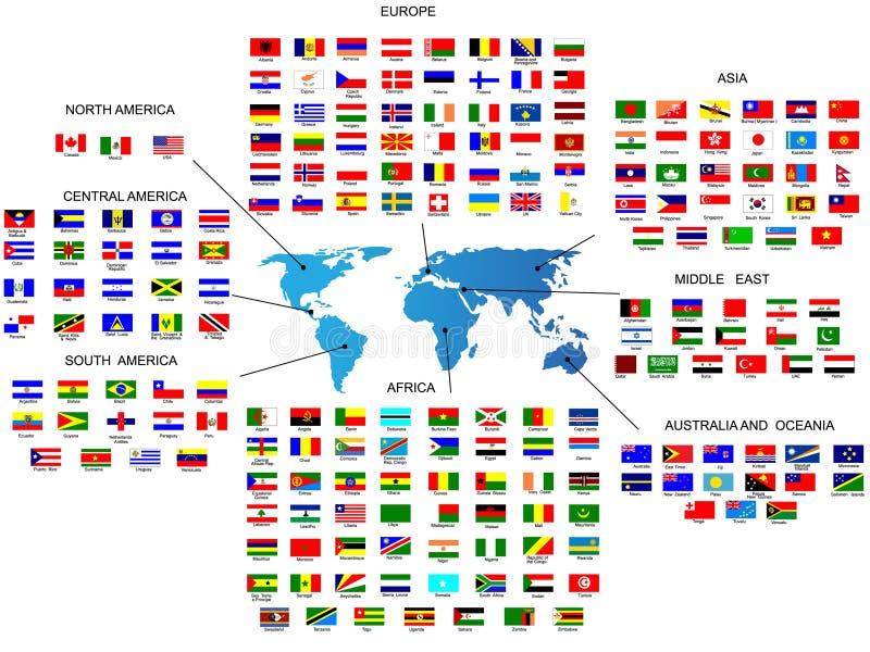 flags vektorn royaltyfri illustrationer