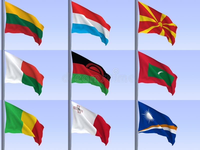 flags vol6 royaltyfri illustrationer