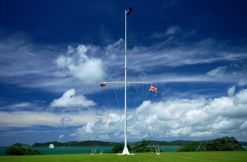 Flags at Waitangi stock images