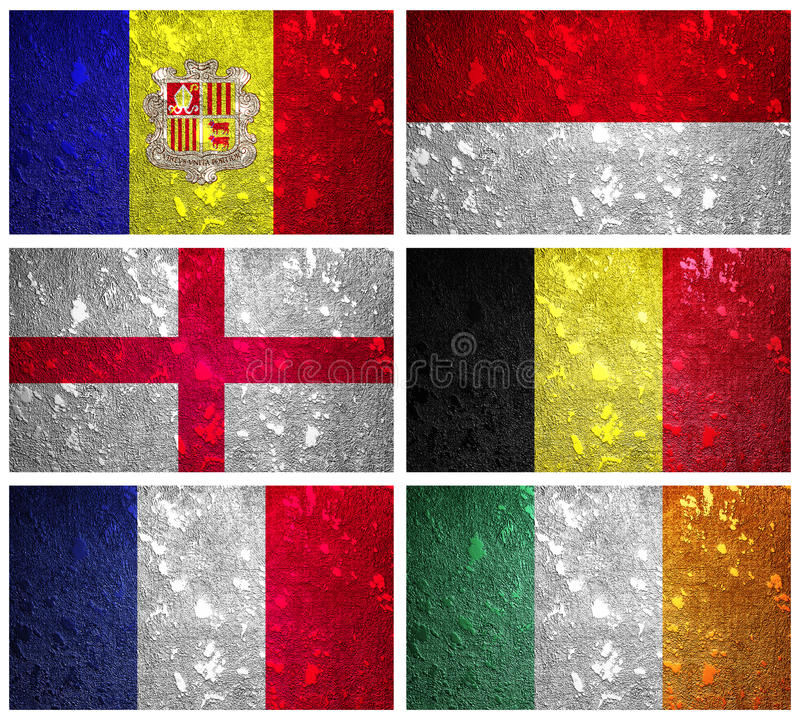 Flags of Western Europe part 2 stock photos