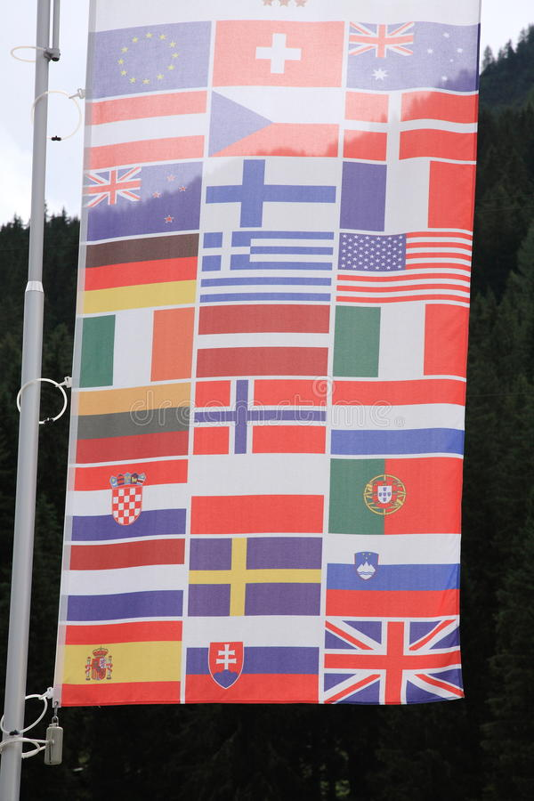 Flags. Wind colors europe states royalty free stock images