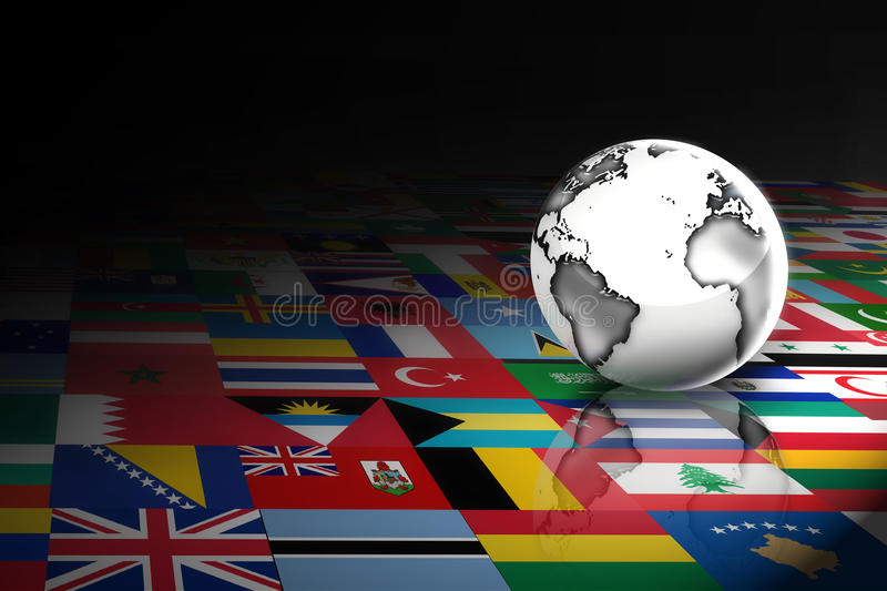 Flags of the world vector illustration