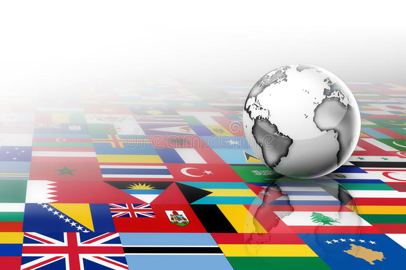 Flags of the world stock illustration