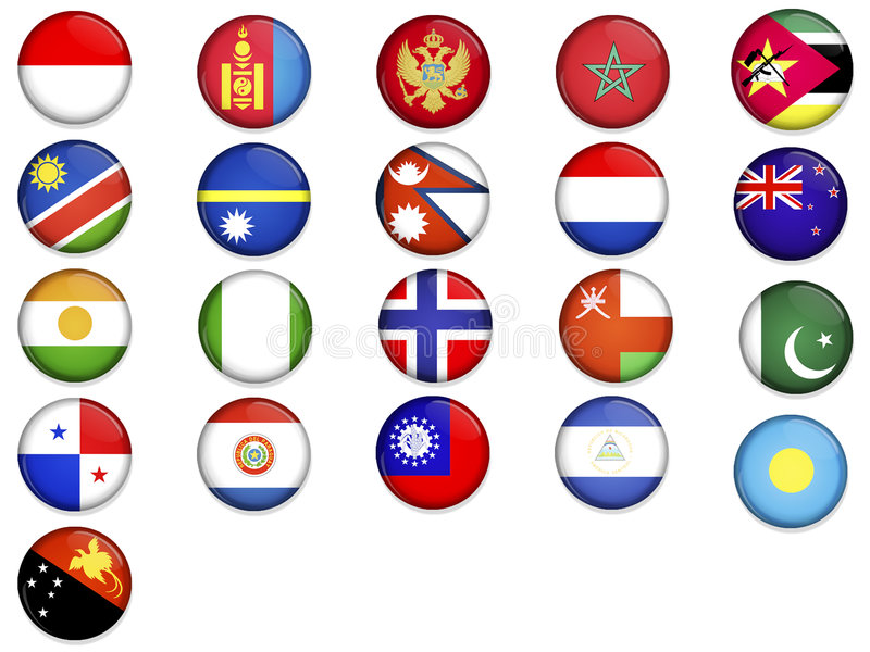 Flags Of The World_4 Stock Photo