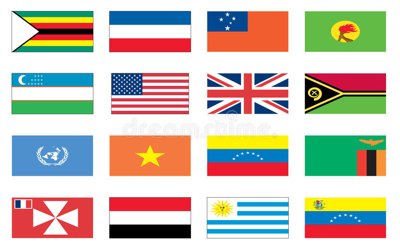 Flags of the world 8 of 8 stock illustration