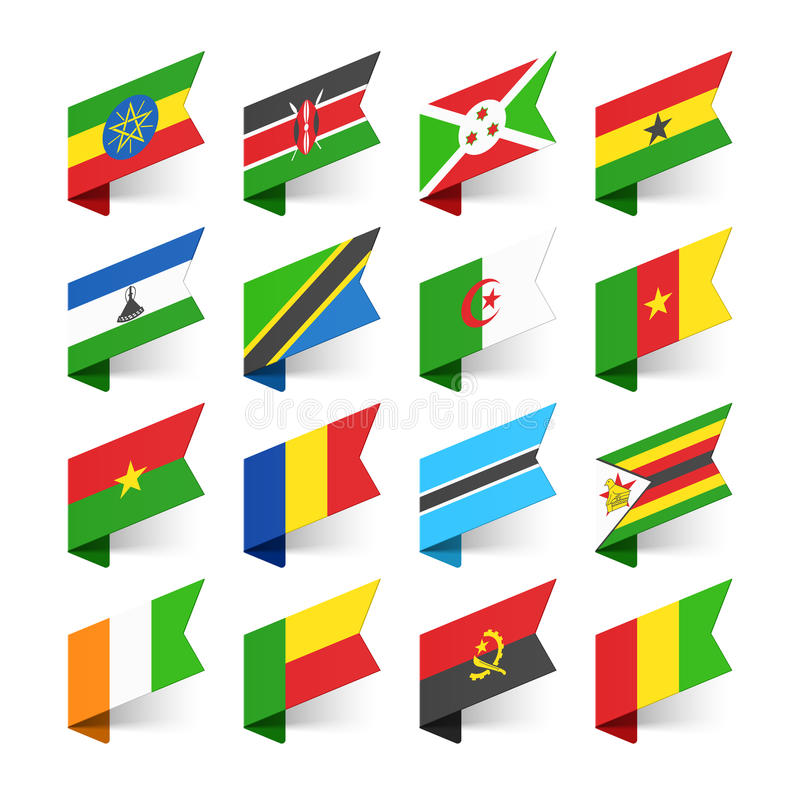Flags of the World, Africa royalty free illustration