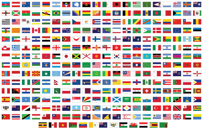 Flags of the world royalty free illustration