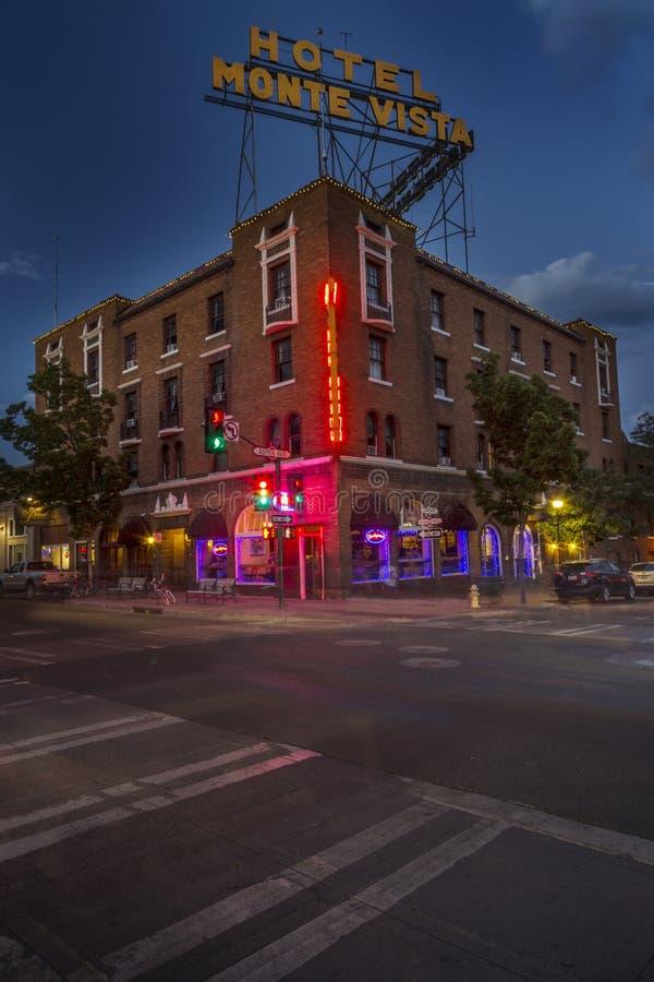 Historic Hotel Monte Vista in Flagstaff Arizona royalty free stock image