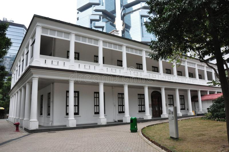Flagstaff House at Hong Kong Park. It is now the Museum of Tea Ware. Flagstaff House, built in 1846, is the oldest example of Western-style architecture royalty free stock photos