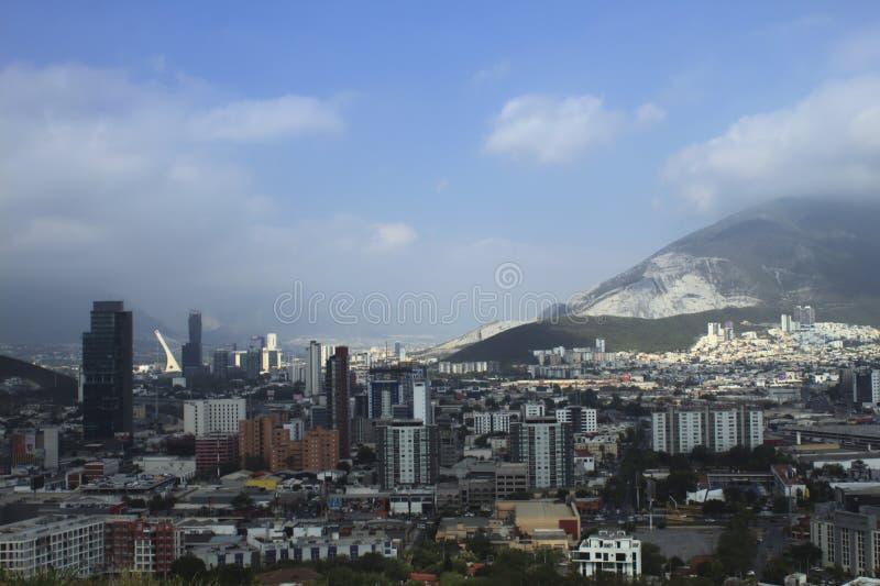 Flagstaff in Messico a Monterrey fotografie stock