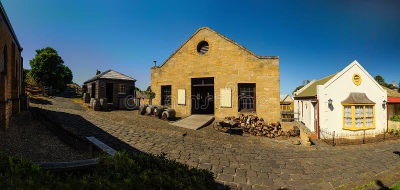 Flagstengi wzgórza Morski muzeum obrazy royalty free