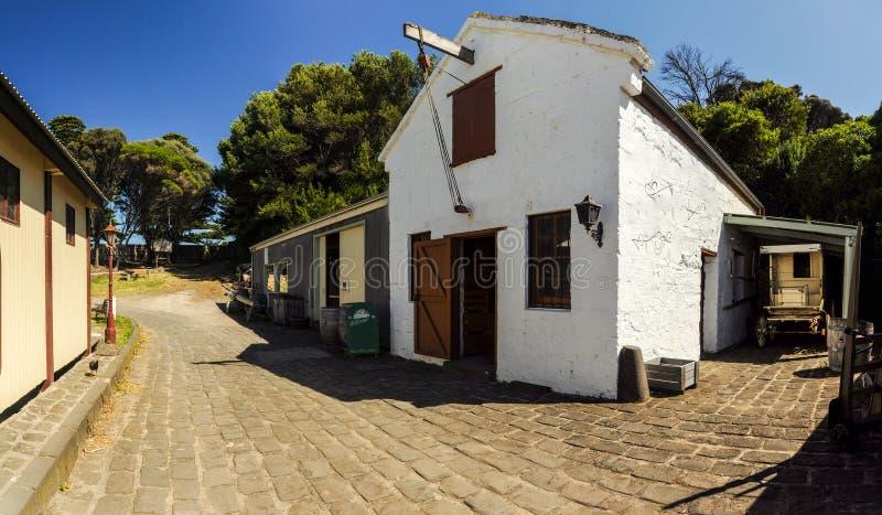 Flagstengi wzgórza Morski muzeum obraz stock