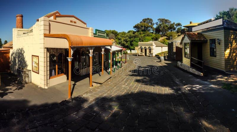 Flagstengi wzgórza Morski muzeum zdjęcie royalty free