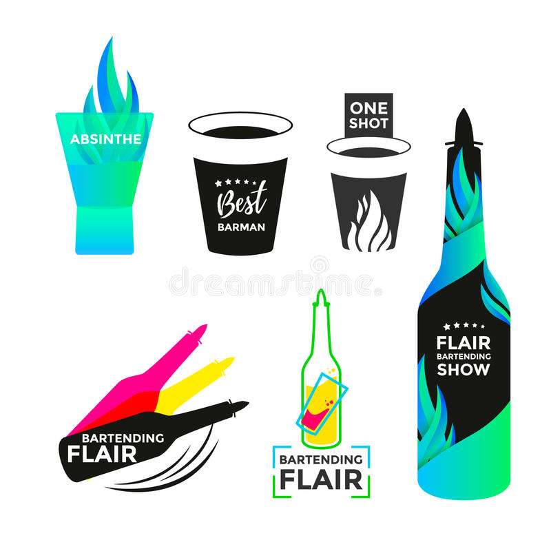 Free Flair Bartending Icon Stock Photo - 93615090