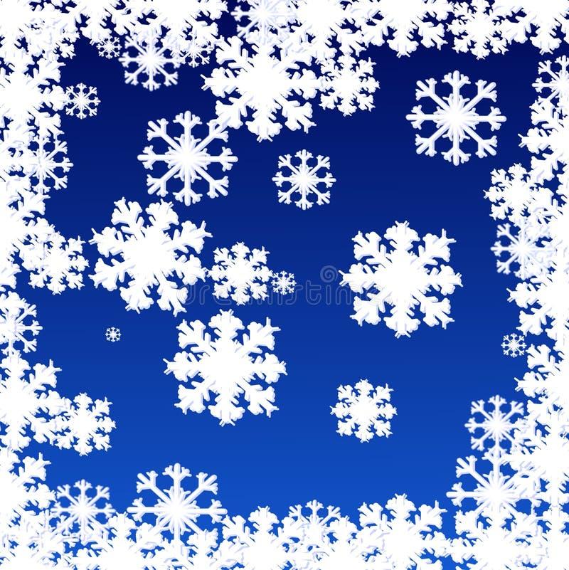 Flake av snow vektor illustrationer