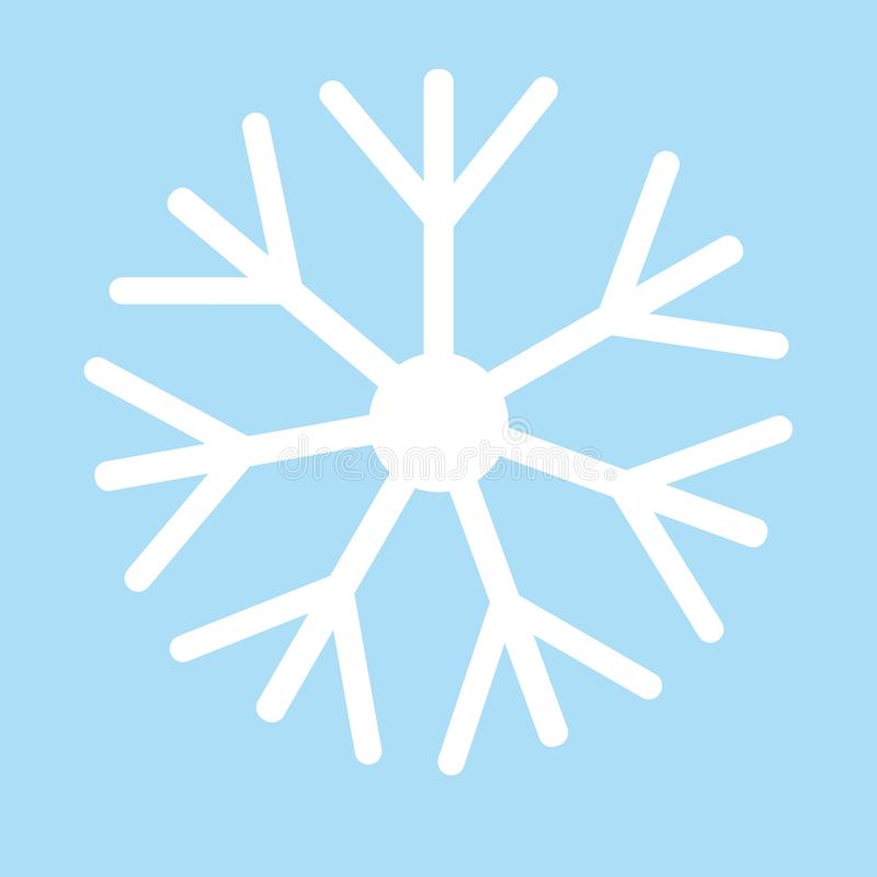 Flake av snow Vit sn?flinga p? den bl?a bakgrundsvektorn eps10 vektor illustrationer