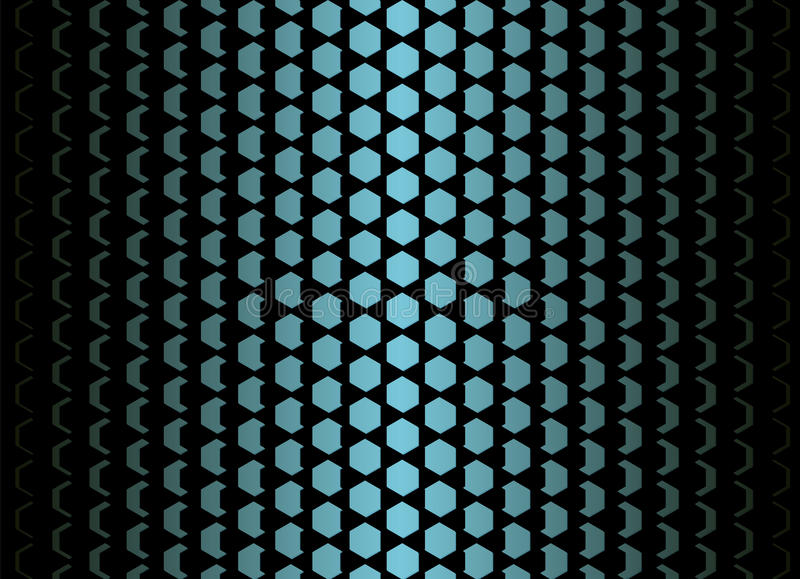 Flake blue gradient pattern. Rhombic shape equally decreases from the center to the edges. Vector futuristic background stock illustration
