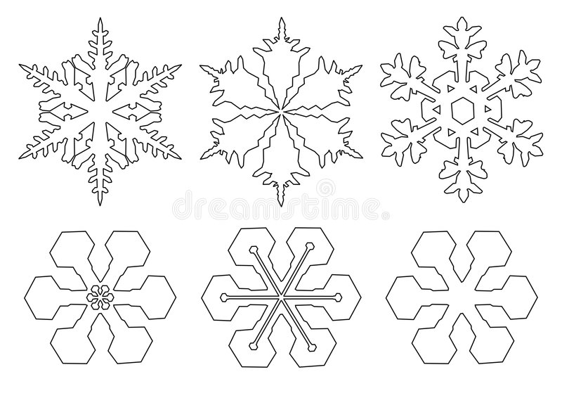 Download Flakes of snow stock illustration. Image of white, christmas - 7083886