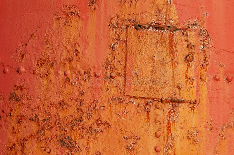 Download Flaking Paint 13 stock image. Image of orange, patch, rusted - 490411