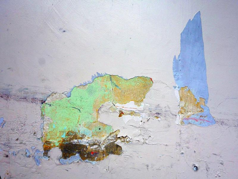 Flaking Paint on Wall, Abstract stock images