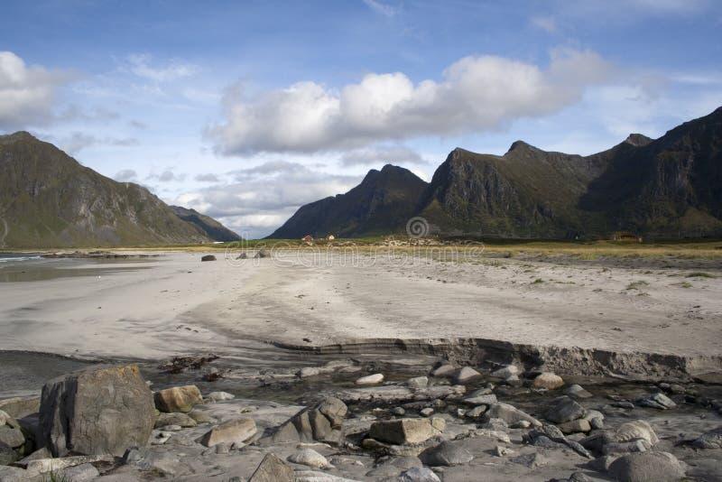 Flakstad Beach on the Lofoten Islands, Norway. Scandinavia stock photo