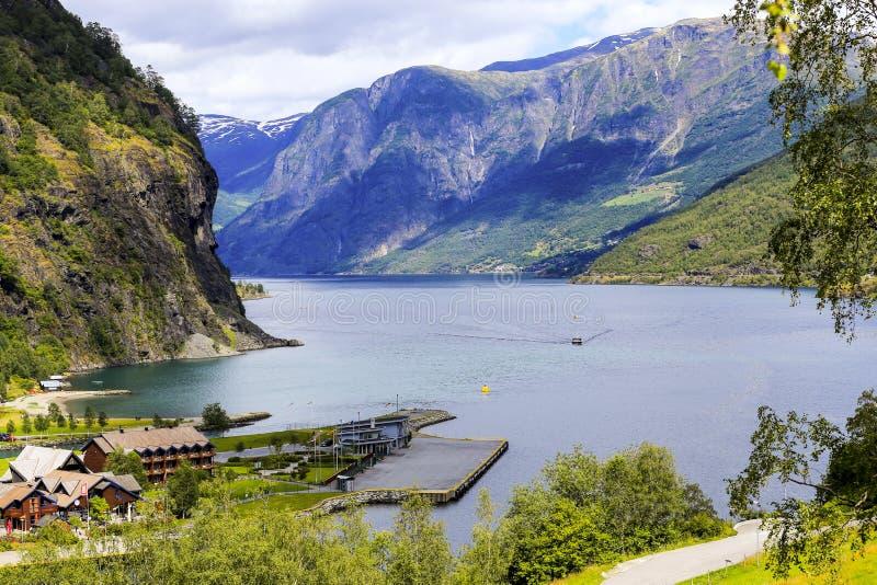Flam村庄,挪威 免版税图库摄影