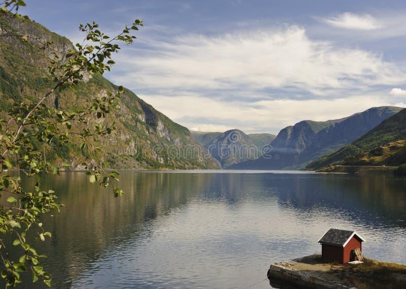 Flam Fjordscape photographie stock libre de droits