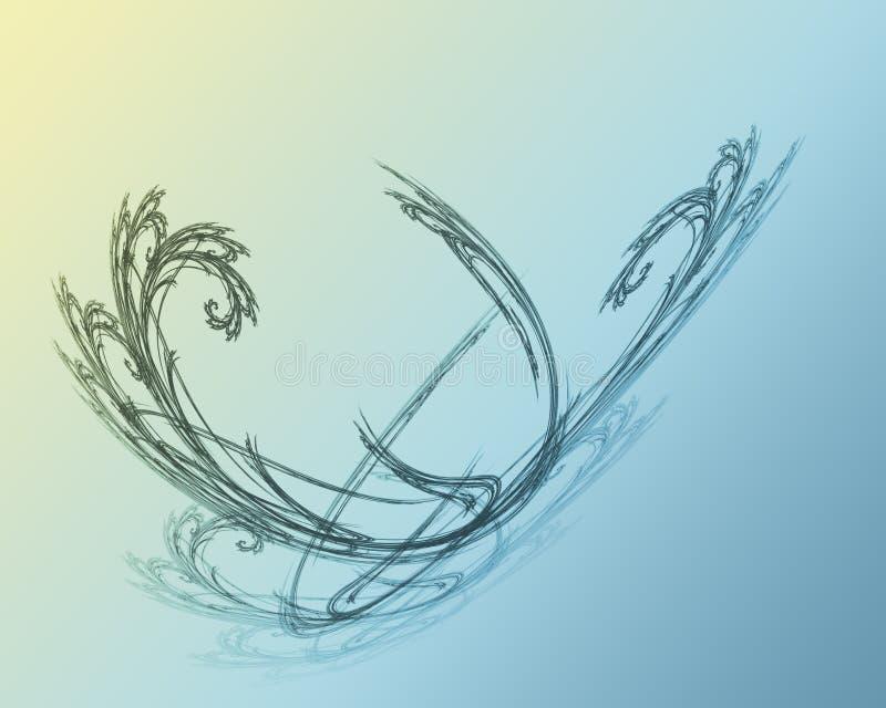 Flama 5 do Fractal ilustração stock