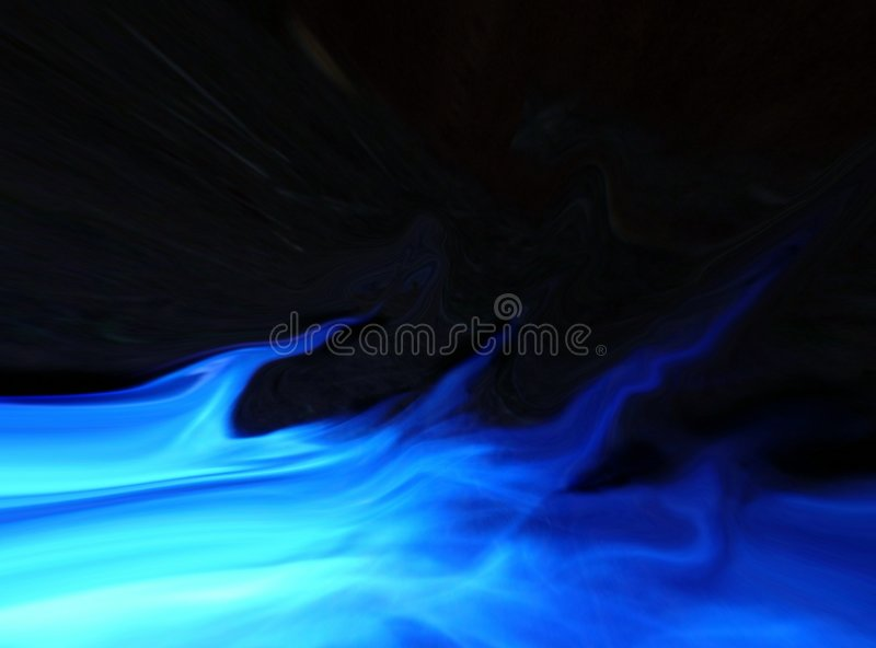 Flama azul ilustração do vetor