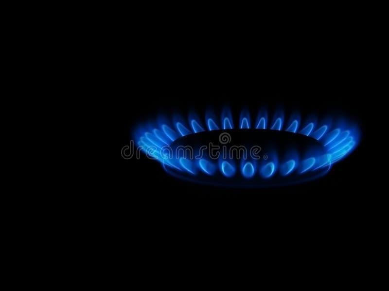 Flama azul fotografia de stock