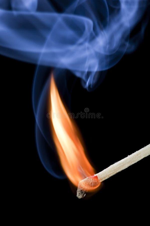 Flama de fósforo imagens de stock royalty free