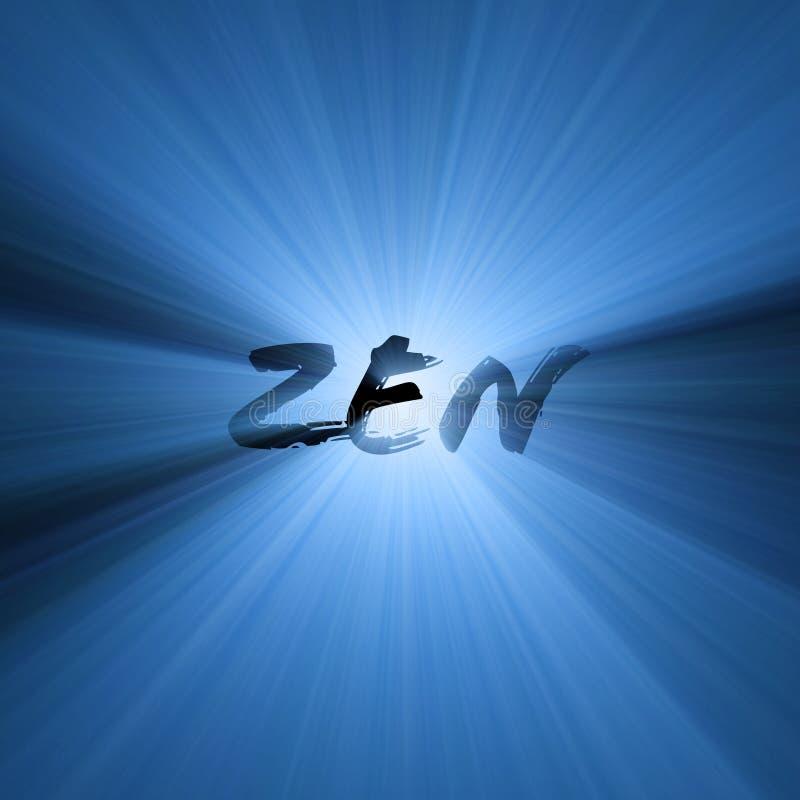Llamarada de la luz del símbolo de la palabra del zen foto de archivo libre de regalías