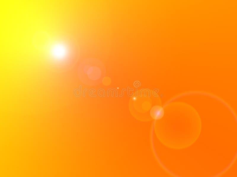 Flama de Sun stock de ilustración