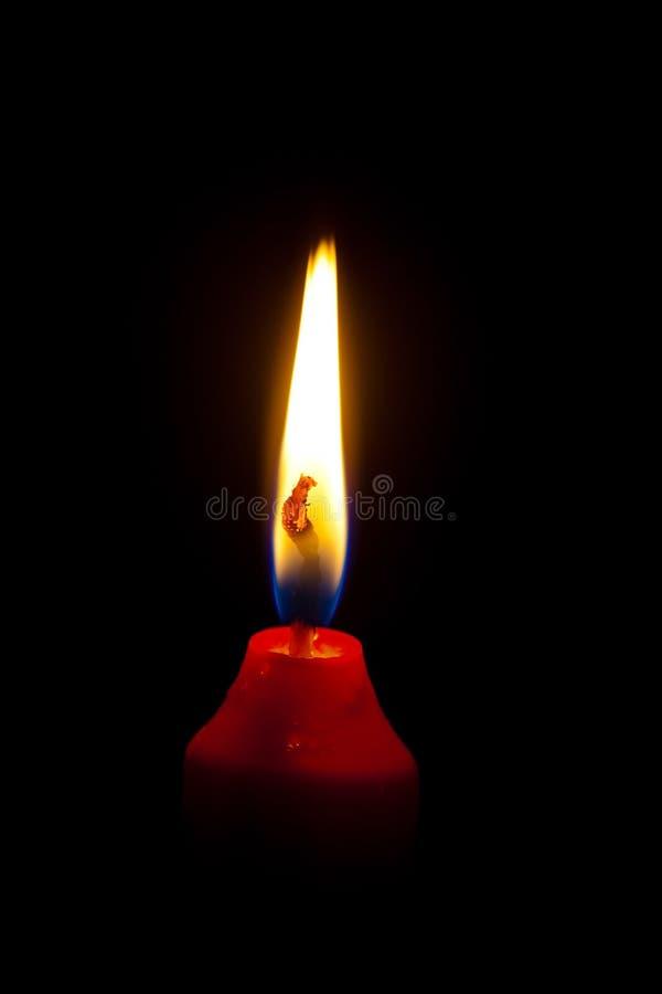Flama de uma vela imagem de stock
