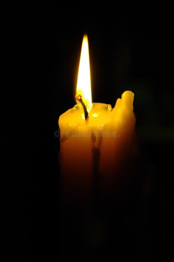 Flama de vela imagens de stock