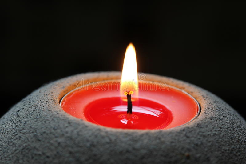Flama de vela foto de stock royalty free