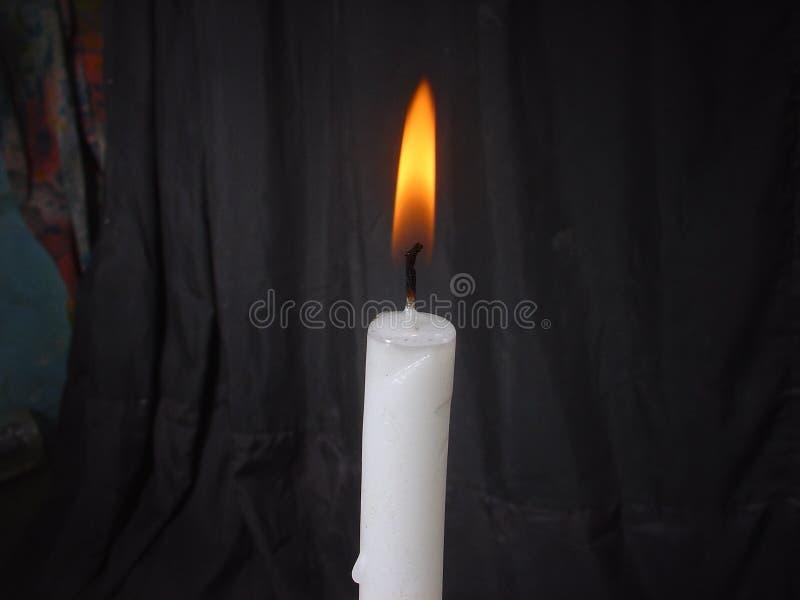 Flama de vela imagem de stock