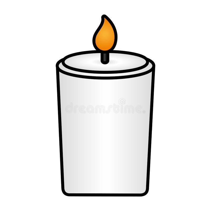 Flama de vela ardente ilustração royalty free