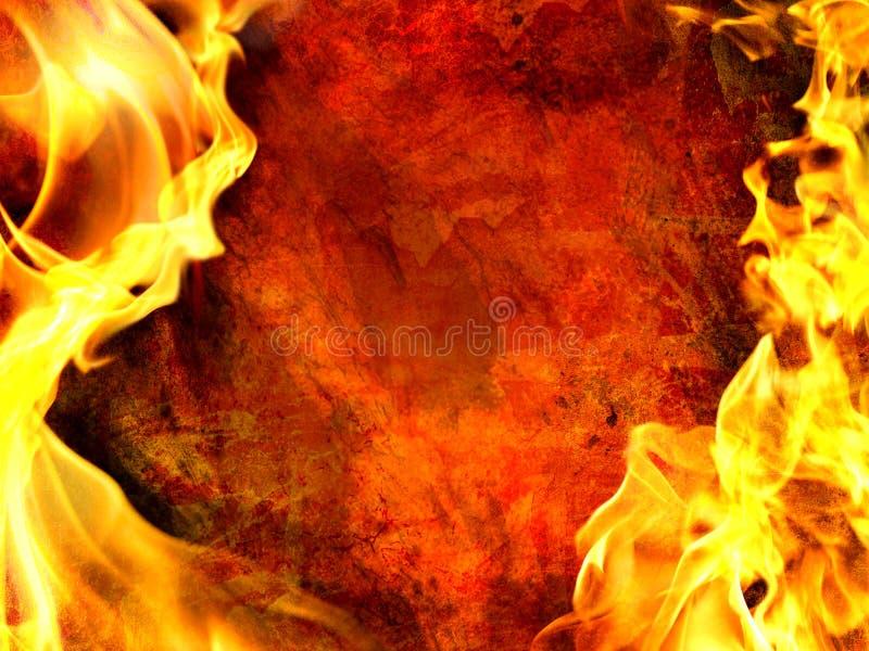 Flama decorativa ilustração stock