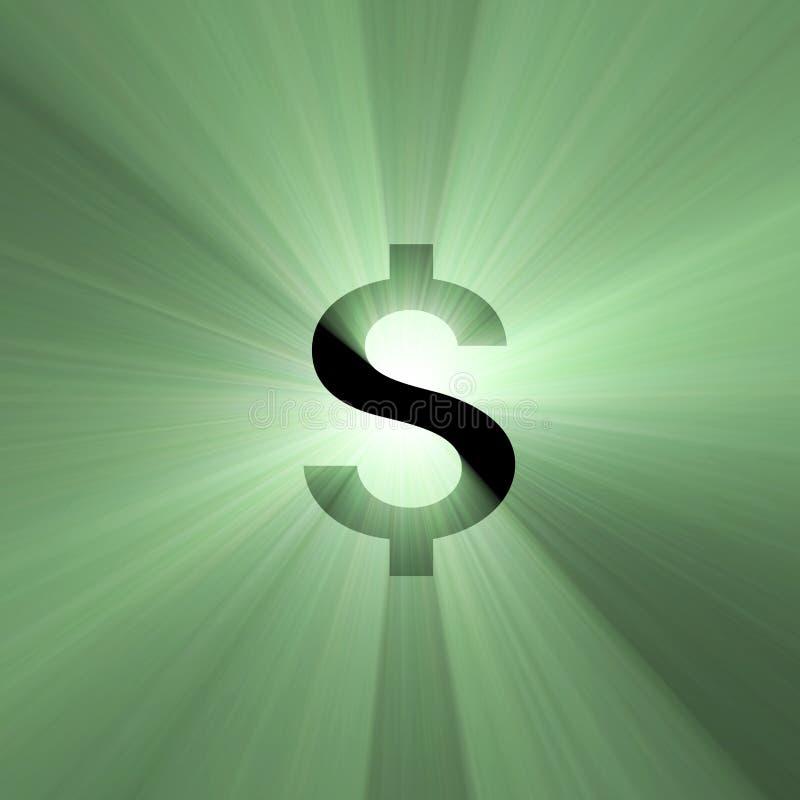 Flama del dólar de la muestra de dinero en circulación stock de ilustración