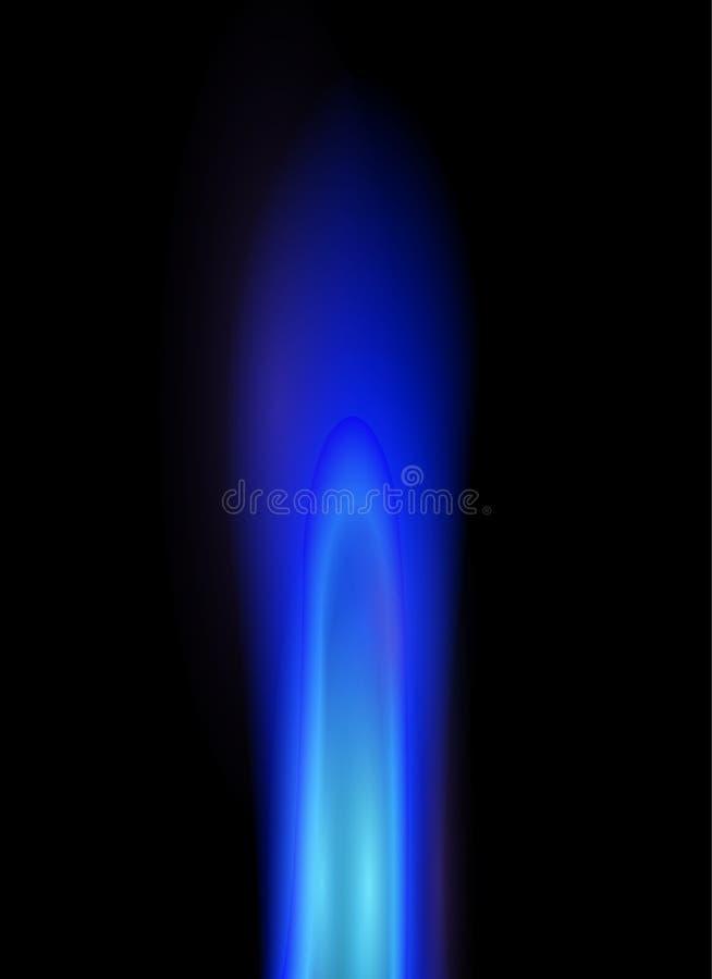 Flama do gás natural ilustração stock