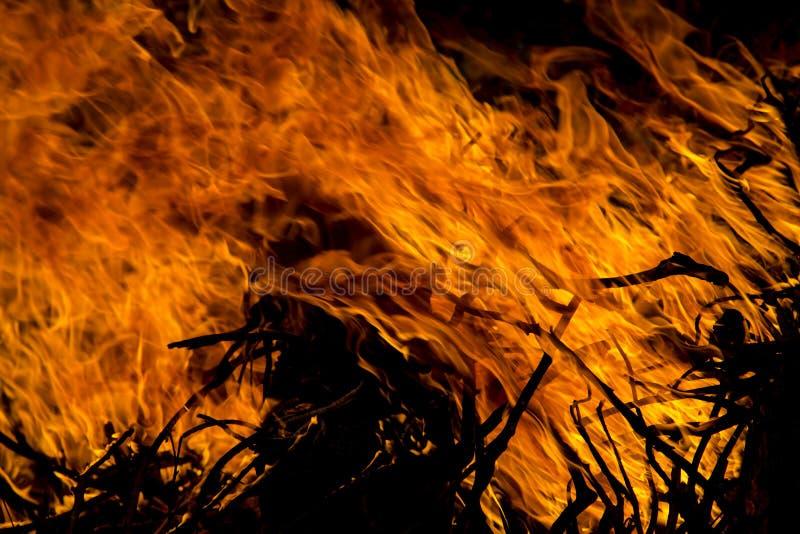 Flama do incêndio foto de stock