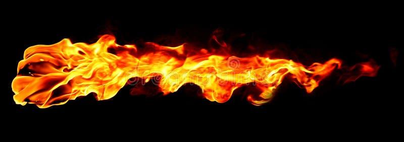Flama do incêndio isolada fotografia de stock