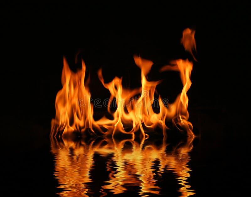 Flama do registro do incêndio imagem de stock