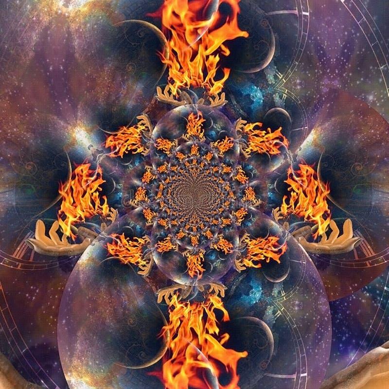 Flama eterno ilustração do vetor