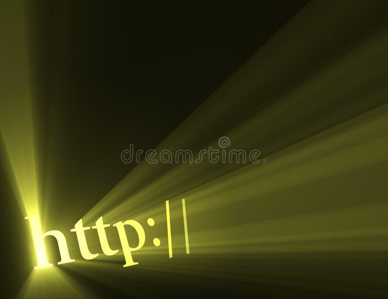 Flama hiperactiva de la luz de la conexión del HTTP ilustración del vector