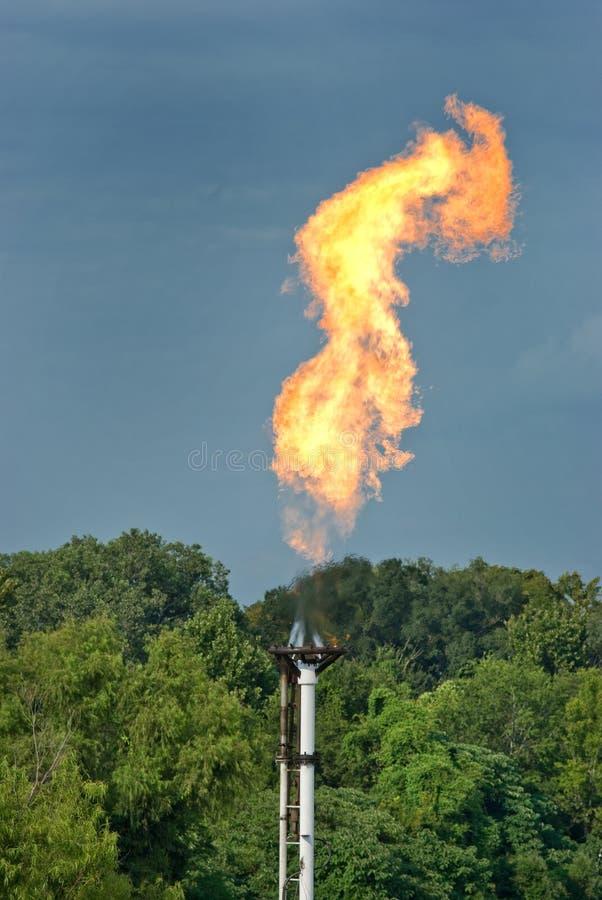 Flama industrial del gas fotografía de archivo