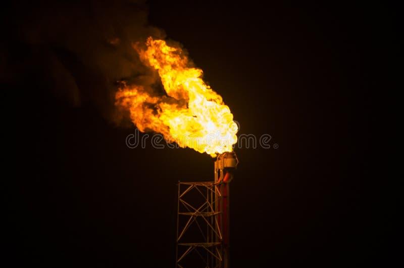 Flama industrial del gas fotos de archivo