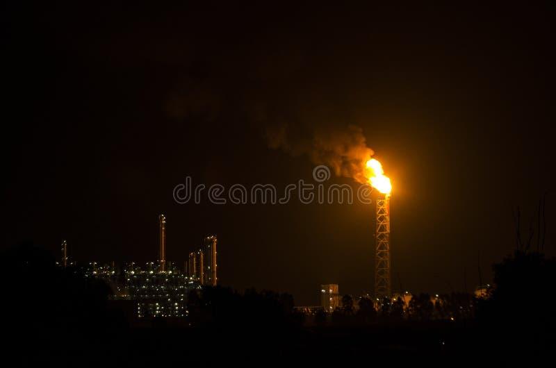 Flama industrial del gas imágenes de archivo libres de regalías